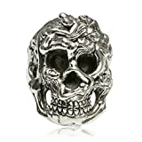 Adisaer Biker Rings Silver Ring for Men Six Naked Girl Skull Head Ring Size 11 Vintage Punk Jewelry