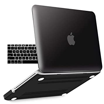 IBENZER Old MacBook Pro 13 Inch case A1278, Soft Touch Hard Case Shell Cover with Keyboard Cover for Apple MacBook Pro 13 with CD-ROM, Black, MMP13BK+ ...