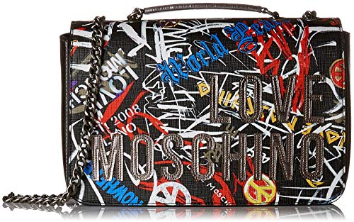 Negro Graffiti Logo Shoulder Love Moschino nero Bag Accessories HTZw46qz