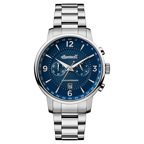 Ingersoll Men's Quartz Stainless Steel Casual Watch, Color:Silver-Toned (Model: I00604)