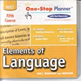 Elements of Language: One-Stop Planner CD-ROM Grade 11