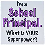 3dRose I'm a School Principal What is Your Superpower Pink Mouse Pad (mp_193266_1)