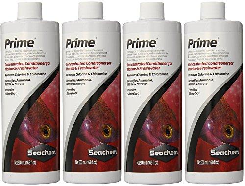 (4 Pack) Seachem Prime 500ml Seachem Prime Water Conditioner