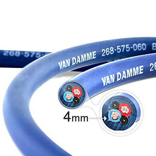 (VAN DAMME Professional Blue Series Studio Grade 2 x 4.0 mm (2 core) Twin-Axial Speaker Cable 268-545-060 7 Metre/7M)