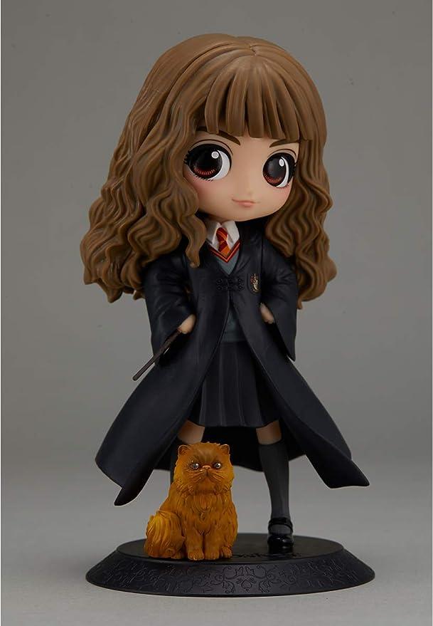 Banpresto Harry Potter - Figura Q Posket Hermione Granger con Crookshanks 14cm