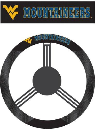 NCAA West Virginia Mountaineers Poly-Suede Steering Wheel - Malls Outlet Va
