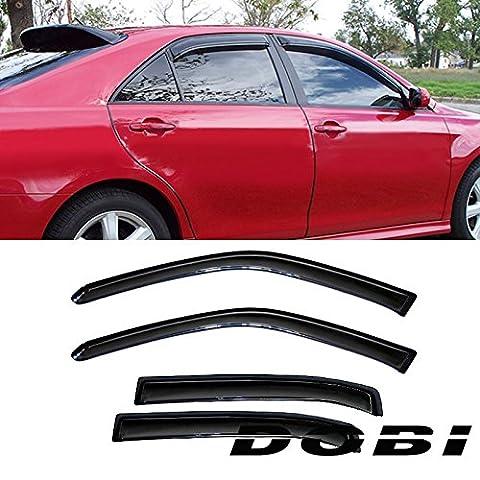 VIOJI 4pcs Smoke Tint Out-Channel Reinforced Acrylic Sun Rain Guard Vent Shade Window Visors For Chevy 06-13 Impala/14-16 Impala Limited - Impala Vent