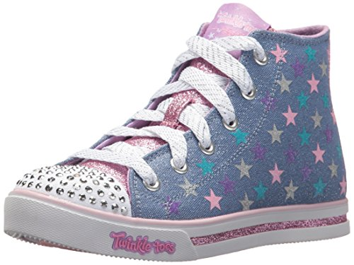 - Skechers Kids Girls' Sparkle Glitz-Shiny Starz Sneaker,denim/multi,12 Medium US Little Kid