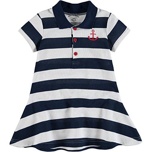 Wan-A-Beez Baby Girls Pique Polo Dress Set (24 Months, Navy Nautical )