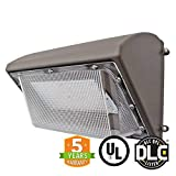 55W LED Wall Pack Light with Photocell, Replaces