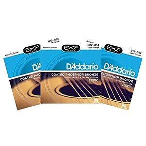 3 sets of d 39 addario exp16 coated phosphor bronze wound light acoustic strings. Black Bedroom Furniture Sets. Home Design Ideas