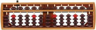 Wqingng Soroban Abacus 17 Digits Rods Soroban Standard Abacus Chinese Japanese Calculator Counting Tool Math Learning Beginners