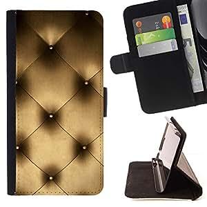 Momo Phone Case / Flip Funda de Cuero Case Cover - Arte Couch Pared Interior Design Platinum Bling - LG G2 D800
