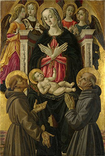 Oil Painting 'The Virgin And Child With Saints 1475-80, Attributed To Bartolomeo Caporali' 16 x 24 inch / 41 x 60 cm , on High Definition HD canvas prints, gifts for Gym, Home Office And Kids decor (Neo Skin Jumpsuit)