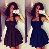 Women Sleeveless Bodycon Party Cocktail Evening Skater Mini Dress