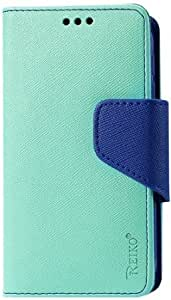 Quaroth - Reiko 3-In-1 Wallet Case for Alcatel One Touch Fierce 7024W - Retail Packaging - Green
