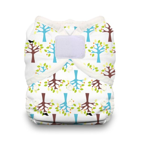 Thirsties Duo Wrap Diaper Cover with Hook and Loop, Blackbird, Size 2