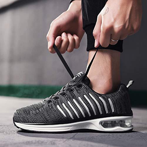 Zapatos Y Con Malla Deportiva Redonda Cordones Antideslizante De Jiameng Zapatillas Hombre Aire Punta Calzados Cojín Deporte Informales Para Negro 47tagP7vq