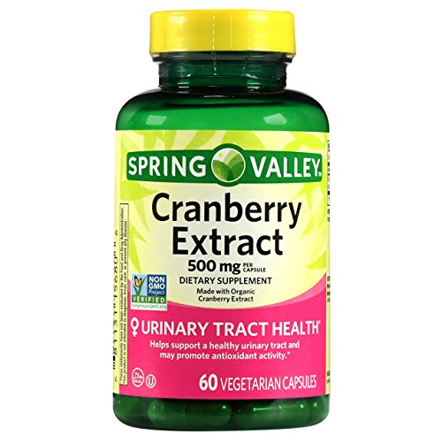 Spring Valley Cranberry Extract, 60 count, 500 mg per Capsule (Extract 500 Mg Capsules)