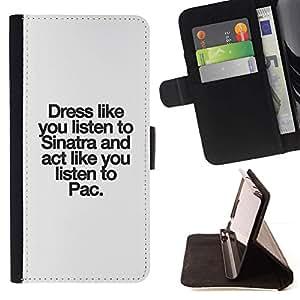 Momo Phone Case / Flip Funda de Cuero Case Cover - Conseils de vie Inspiring - Samsung Galaxy A5 ( A5000 ) 2014 Version