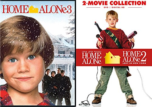 Home Alone 1 & 2 Box + Home Alone 3 Collection Triple Movie DVD Bundle Lost in New York Holiday Set (Home Alone Dvd 1)