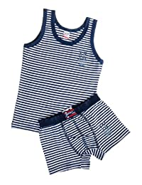 Kids by Brix Toddler and Boys Soft Turkish Cotton Nautical Boxer Brief and Tank Top. 5/6 years