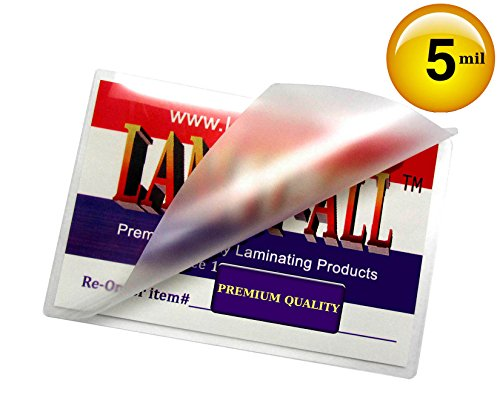 6 X 9 Laminating Pouches 5 Mil Hot Laminator Sleeves [Pk of 100] by LAM-IT-ALL