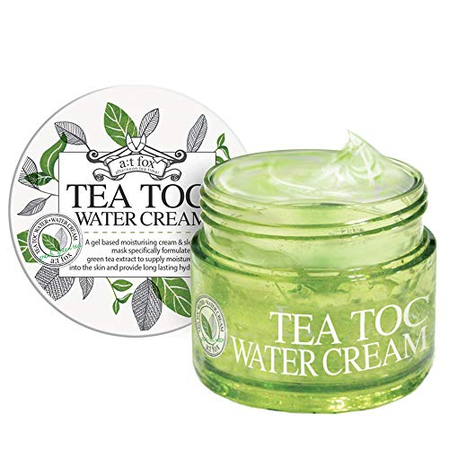 TEATOC Green Tea Water Cream | Korean Facial Moisturizer, Massage Cream and Sleeping Mask - 3.38oz
