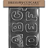 Dress My Cupcake DMCL004 Chocolate Candy Mold, Letters-A, B, C, D, E, F