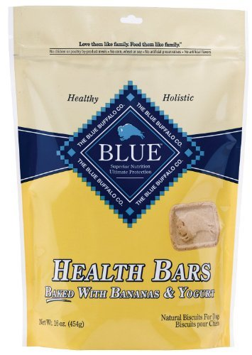 ((3 Pack) Blue Buffalo Health Bars for Dogs, Banana Yogurt, 16-ounce Bags )