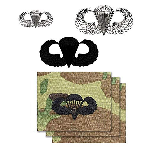 (US Army Parachutist Jump Wing Basic Badge Bundle )