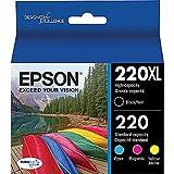 Epson T220XL-BCS Cartridge Ink, Pack of 4, (CMYK)