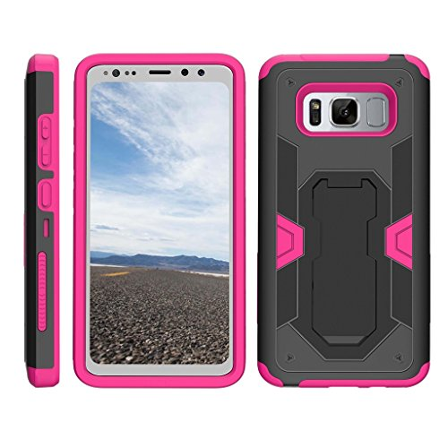 TurtleArmor | Samsung Galaxy S8 Active Case | G892 [Clip Caliber] High Impact Shockproof Silicone Armor Kickstand Holster Belt Clip Pink Case –