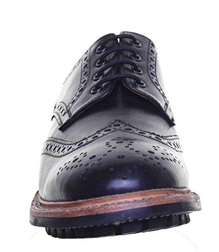 Justin Reece Notthingam, Chaussures de ville à lacets pour homme Noir
