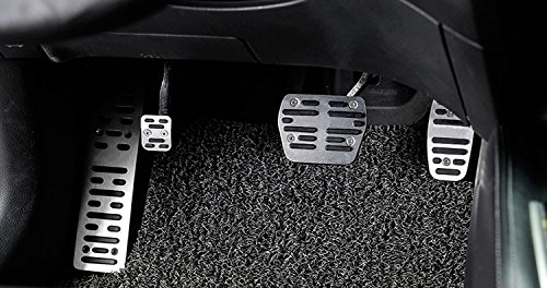 Generic Drill-Free Aluminum Foot Rest Fuel Accelerate Brake AT Pedals For Nissan X-trail Rogue 2014 2015 2016 2017 by Generic (Image #6)