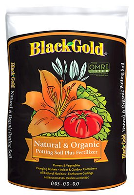 Black Gold Natural & Organic Soil, 2.0 cu ft, OMRI (Black Gold Soil 2 Cubic Feet)