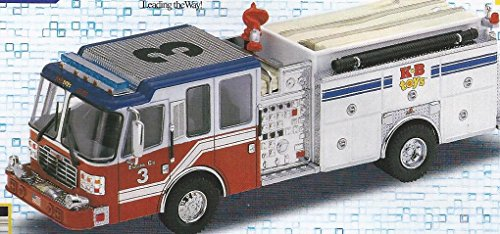 (Code 3 1/64 Scale - Ferrara Inferno Pumper Fire Engine - 2000 KB Toys Edition)