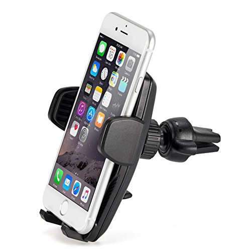 iKross Auto Lock Universal Air Vent Car Mount Phone Holder Cradle for iPhone X, 8, 8 Plus, 7, 6, 6S, Samsung Galaxy S8, S7, S7, Motorola, Google, LG, Huawei Smartphone and More – Black