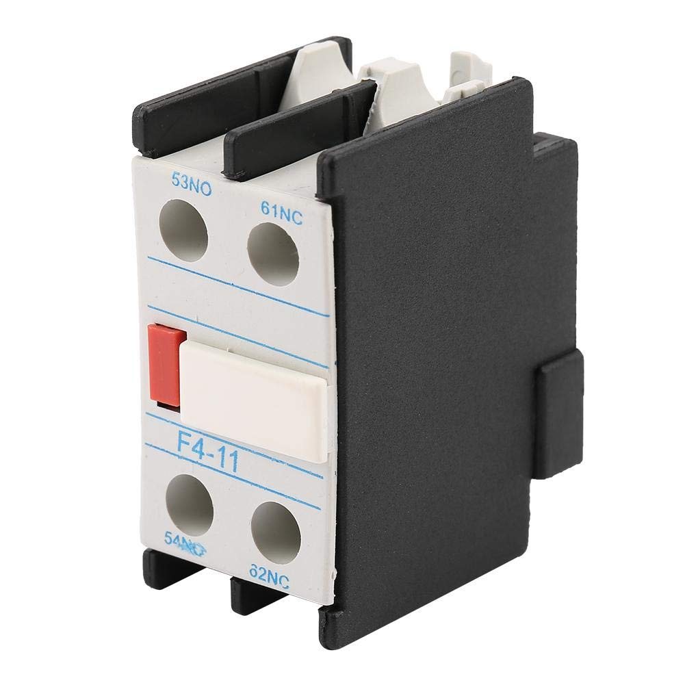 Auxiliary Contact Block Fit LADN11 AC Contactor F4-11 One NO//NC Auxiliary Contact Block Fit Open Close Auxiliary Contact