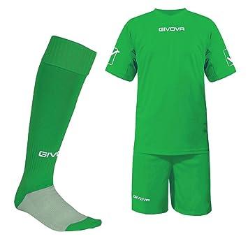 "Givova fútbol formación Kit verde XL (46 ""-48) a juego calcetines"