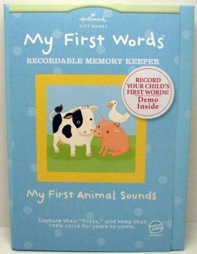 """Price comparison product image HALLMARK """"My First Words"""" Recordable Memory Keeper - Animal Sounds"""