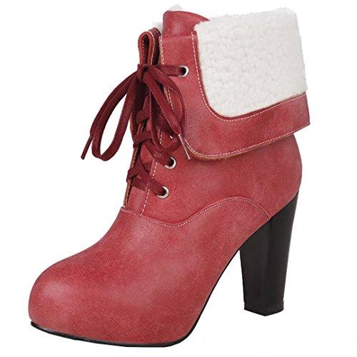 AIYOUMEI Women's Classic Boot Red DwMKiUYYw