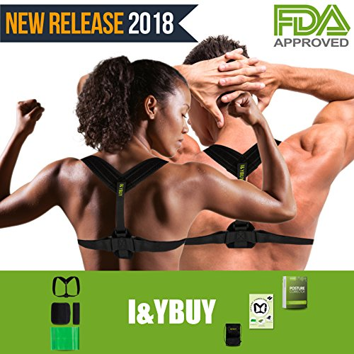 Clavicle Brace Neck Hump Corrector, Posture Corrector for Women and Men, Upper Back Brace Slouch Posture Support, Upright Posture Trainer, Back Straightener, Best Scoliosis Primate Back Brace by I&YBUY