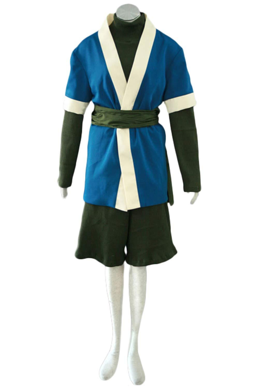 Anime Naruto Haku Kimono Outfit Cosplay Kostüm Herren XL