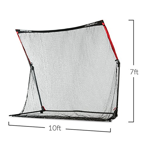 Rukket 4pc Golf Bundle | 10x7ft SPDR Driving Net | Tri-Turf Hitting Mat | Barrier Protective Wings | Carry Bag | Practice Indoor and Outdoor by Rukket Sports (Image #2)