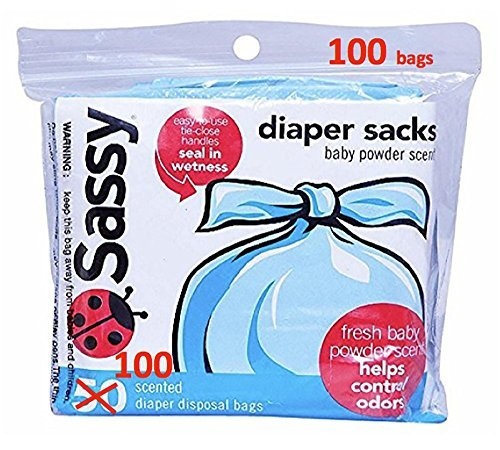 Sassy Disposable Scented Diaper Sacks, 100 (Collection Baby Sack)