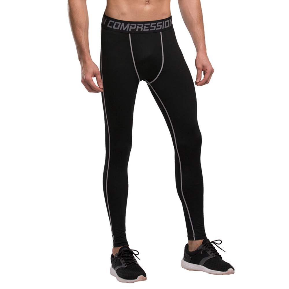 Bwiv Laufhose Herren Lang Unterhose Thermounterwäsche Winddicht Atmungsaktiv Stretchhose Leggings Unterkleidung Sportbekleidung Funktionsunterwäsche für Skilaufen Radsport Fitness