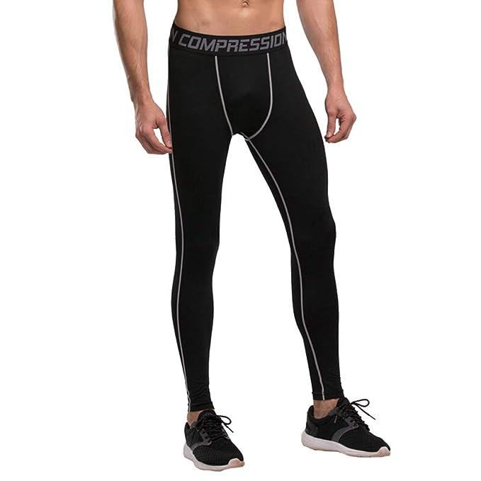 Bwiv Térmica Pantalón Largo Hombre Deporte Ropa Interior Pantalones Gimnasio Polar Caliente Secado Rápido para Invierno