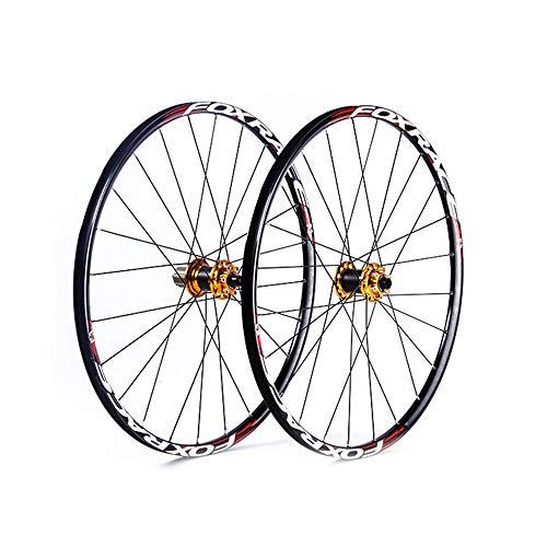 ZXCCZ 700C Bike Wheelset, Carbon Fiber Dual Disc Brake Bike Rim Brake Sealed Bearings Compatible 8-11 Speed Hybrid Bike 120 Rings