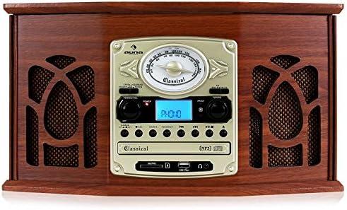 Auna - NR-620 - Equipo estéreo de alta fidelidad con diseño retro ...